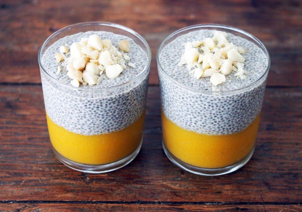 Món ăn hạt Chia ngâm sữa