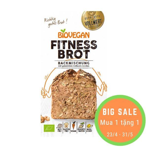 Bột làm bánh mỳ nướng hữu cơ Fitness Brot (ngũ cốc nảy mầm 22%) 330g - Biovegan