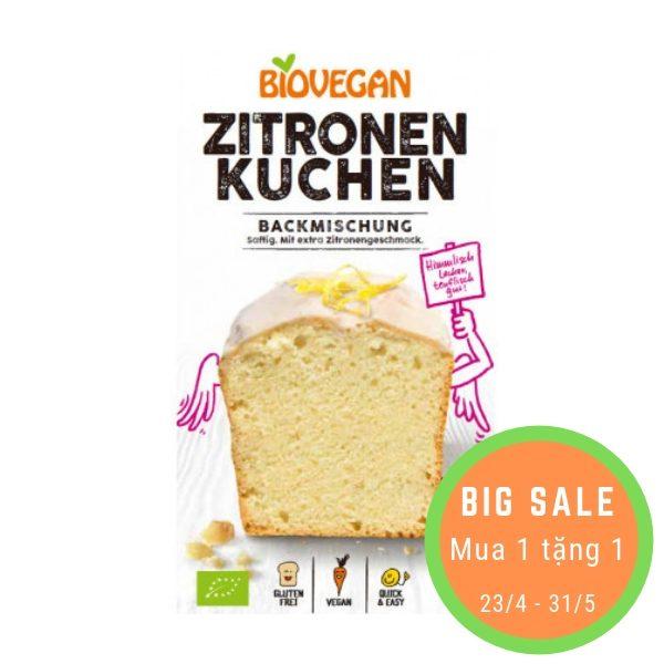 Bột làm bánh mỳ nướng hữu cơ vị Chanh 430g - Biovegan