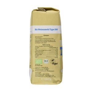Bột mì nguyên cám hữu cơ loại 550 1kg - Bauck Hof B