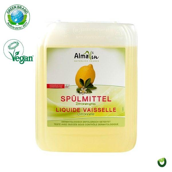 Dung dịch rửa chén hữu cơ hương chanh sả 5L - Almawin 1