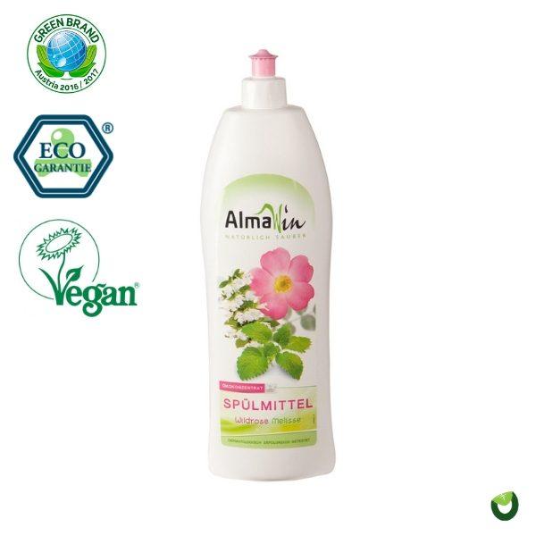 Dung dịch rửa chén hữu cơ hương hoa hồng dại 1 lít - Almawin