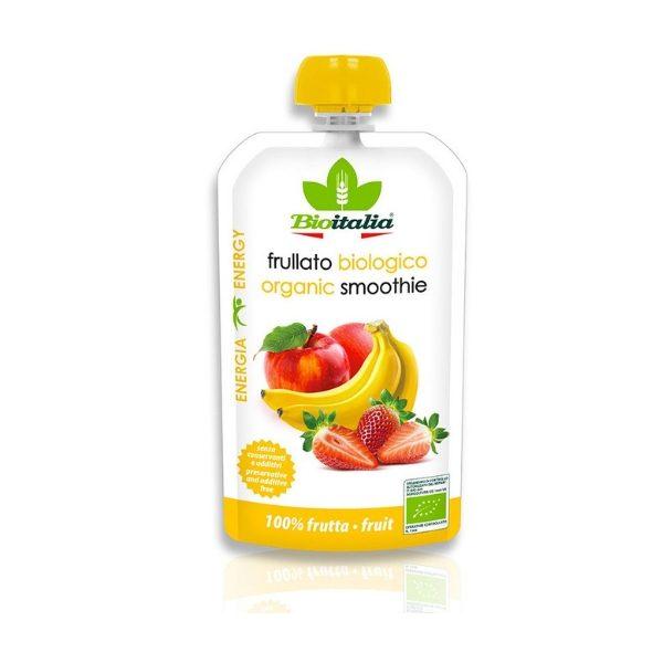 Hỗn hợp táo, chuối và dâu tây hữu cơ 120g