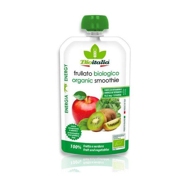Hỗn hợp táo, kiwi và rau bina hữu cơ 120g