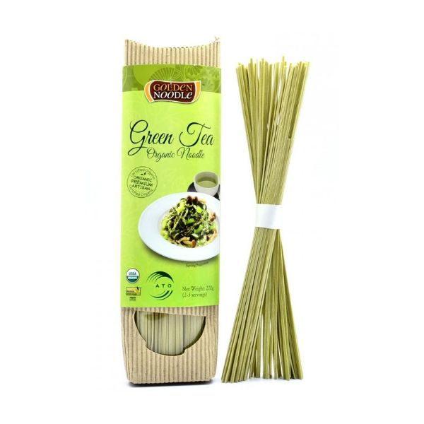 Mì sợi hữu cơ vị trà xanh 200g – Golden