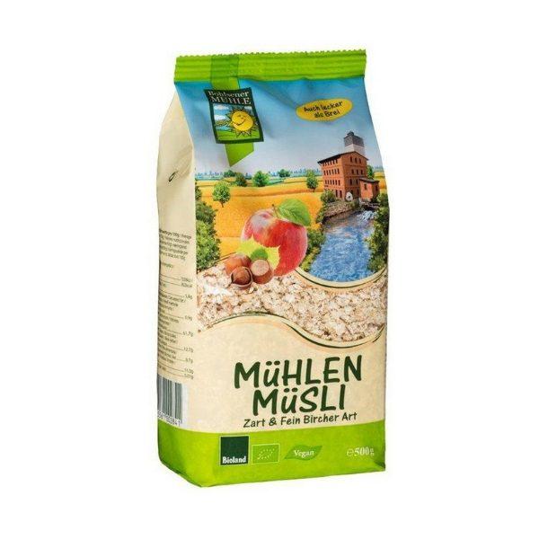 Ngũ cốc Muesli với táo và hạt phỉ hữu cơ 500g - Bohsener A