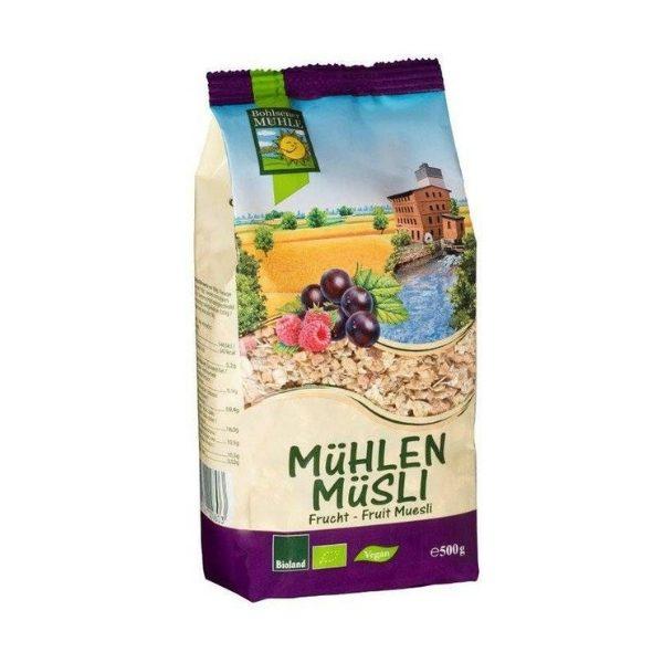 Ngũ cốc Muesli với trái cây khô hữu cơ 500g - Bohsener
