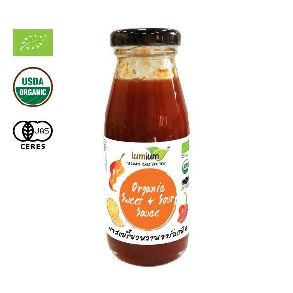 Sốt ớt giấm dứa chua ngọt hữu cơ 200g - Lumlum