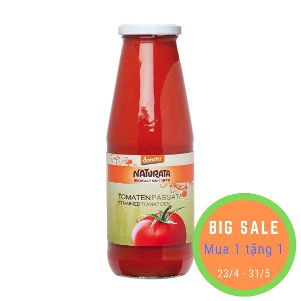 Sốt cà chua xay nhuyễn hữu cơ 700g - Naturata