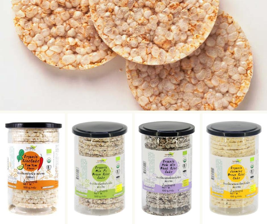 Bánh gạo lứt hữu cơ lumlum