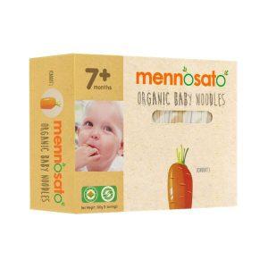 Mì ăn dặm hữu cơ cho bé vị cà rốt Men No Sato