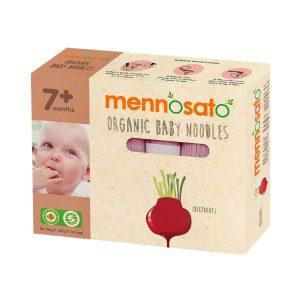 Mì ăn dặm hữu cơ cho bé vị củ dền Men No Sato 4