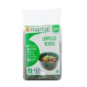 Đậu Lăng Xanh Green Lentil Hữu Cơ Markal 500g 1