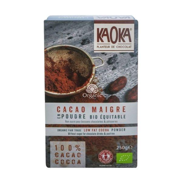 Bột Ca cao hữu cơ nguyên chất tách béo Kaoka 250g 1