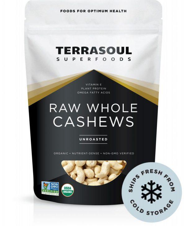 Hạt điều thô hữu cơ (Whole Cashew Unroasted) 454gr