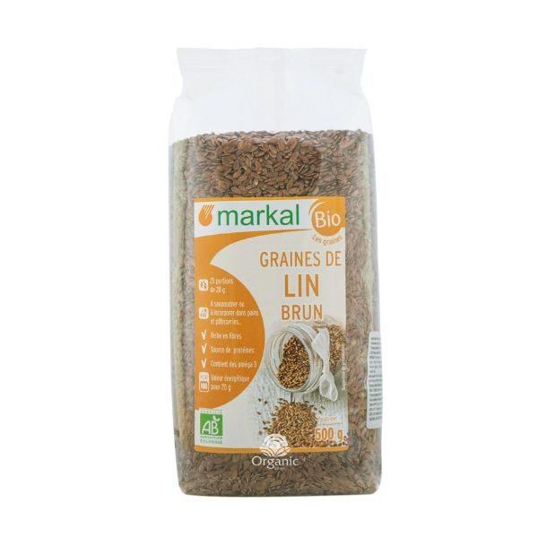 Hạt Lanh Nâu Brown Flaxseed Hữu Cơ Markal 500g 1