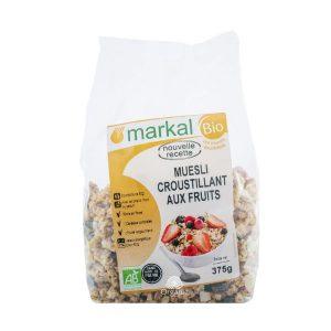 Ngũ cốc giòn trái cây hữu cơ Muesli Croustillant Aux Fruits Markal 375g 1