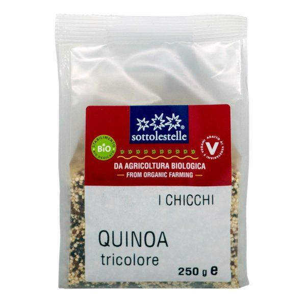 8032454070867 A Hạt diêm mạch hỗn hợp ba màu hữu cơ Sotto 250g - Quinoa Tricolore